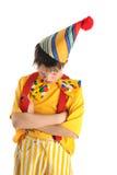 Обиденный мальчик клоуна Стоковые Изображения RF