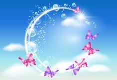 облака бабочки иллюстрация штока