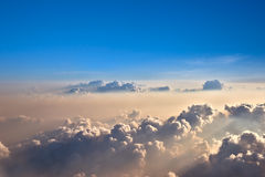 Облака вечера выше Стоковая Фотография RF
