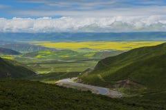 Облака в горах Стоковое Изображение