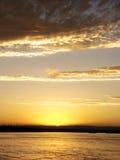 облака в skysunset Стоковые Фото
