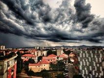 Облака в Zadar & x28; Croatia& x29; стоковые изображения rf
