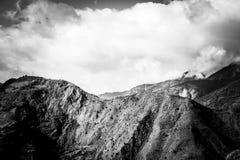 Облака гор стоковое изображение