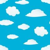 облака делают по образцу безшовное иллюстрация вектора