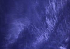 Облака кумулюса белые против красивого синего неба, watercol Стоковые Изображения