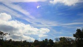Облака кумулюса двигая в голубое небо акции видеоматериалы