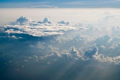 Облака над Вест-Инди Стоковые Изображения RF