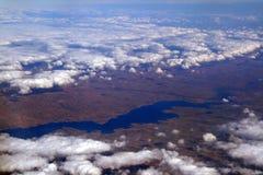 облака над взглядом Стоковые Фото