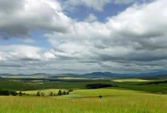 Облака над долиной стоковое фото rf