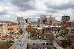 Облака над Greenville, Южной Каролиной стоковое изображение rf