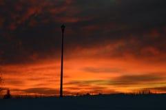 Облака на пожаре стоковое фото rf