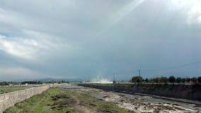 Облака на путе стоковые фотографии rf