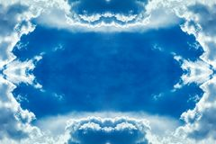 Облака обрамляют в небе Стоковые Изображения RF