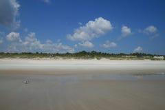облака пляжа Стоковая Фотография RF