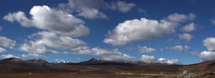 облака под белым миром Стоковые Изображения RF