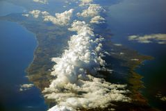 облака покрыли Кипр Стоковые Изображения