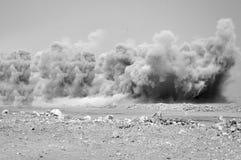 Облака пыли взрывать стоковое фото