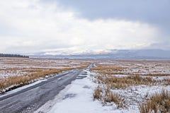 Облака снега над причаливают стоковая фотография