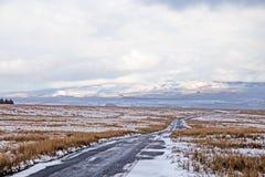 Облака снега над причаливают стоковое фото