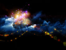 Облака творения Стоковые Фото