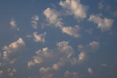 Облака утра от моего парадного крыльца Стоковая Фотография RF