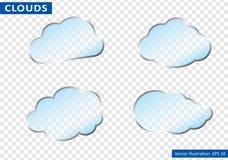 Облака vector на прозрачной предпосылке также вектор иллюстрации притяжки corel Стоковая Фотография RF