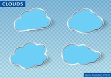 Облака vector на прозрачной предпосылке также вектор иллюстрации притяжки corel Стоковая Фотография
