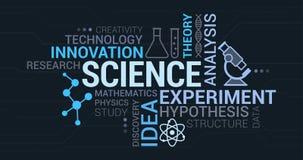 Облако бирки науки, нововведения и исследования Стоковое Фото