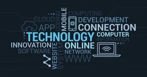 Облако бирки технологии и сетей ИТ Стоковое фото RF