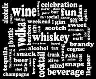 облако выпивая социальное слово иллюстрация вектора