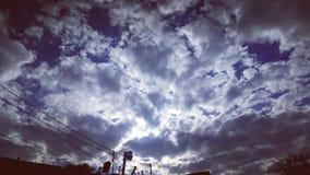 Облако голубого неба съемки широкого экрана стоковая фотография rf
