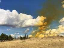 Облако двуокиси азота Стоковое Фото