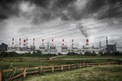 Облако дыма Sulfer загрязнения стоковые фото