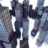 облако зданий Стоковые Фото