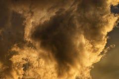 облако золотистое Стоковые Фотографии RF