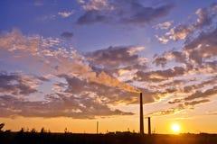 облако над заводом Стоковые Фотографии RF