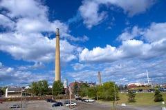 облако над заводом Стоковое Фото