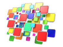 Облако пустых икон программы. Принципиальная схема ПО. Стоковые Изображения