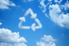 облако рециркулирует Стоковое Изображение