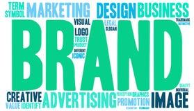 Облако слова бренда бесплатная иллюстрация