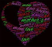 Облако слова дня матери Стоковая Фотография RF