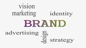 Облако слова концепции бренда на белой предпосылке иллюстрация штока