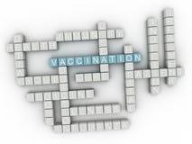 облако слова концепции вакцинирования 3d Стоковые Фотографии RF