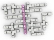 облако слова концепции духовности 3d Стоковое Изображение