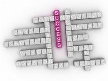 облако слова концепции успеха 3d Стоковые Изображения RF
