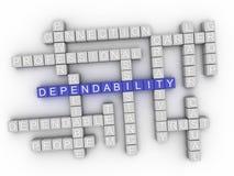 облако слова концепции Dependability 3d Стоковая Фотография