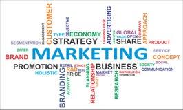 Облако слова - маркетинг стоковое изображение rf