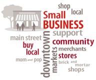 Облако слова мелкия бизнеса Стоковая Фотография