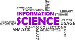 Облако слова - наука об информации стоковые фотографии rf