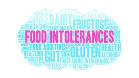 Облако слова нетерпимостей еды иллюстрация вектора